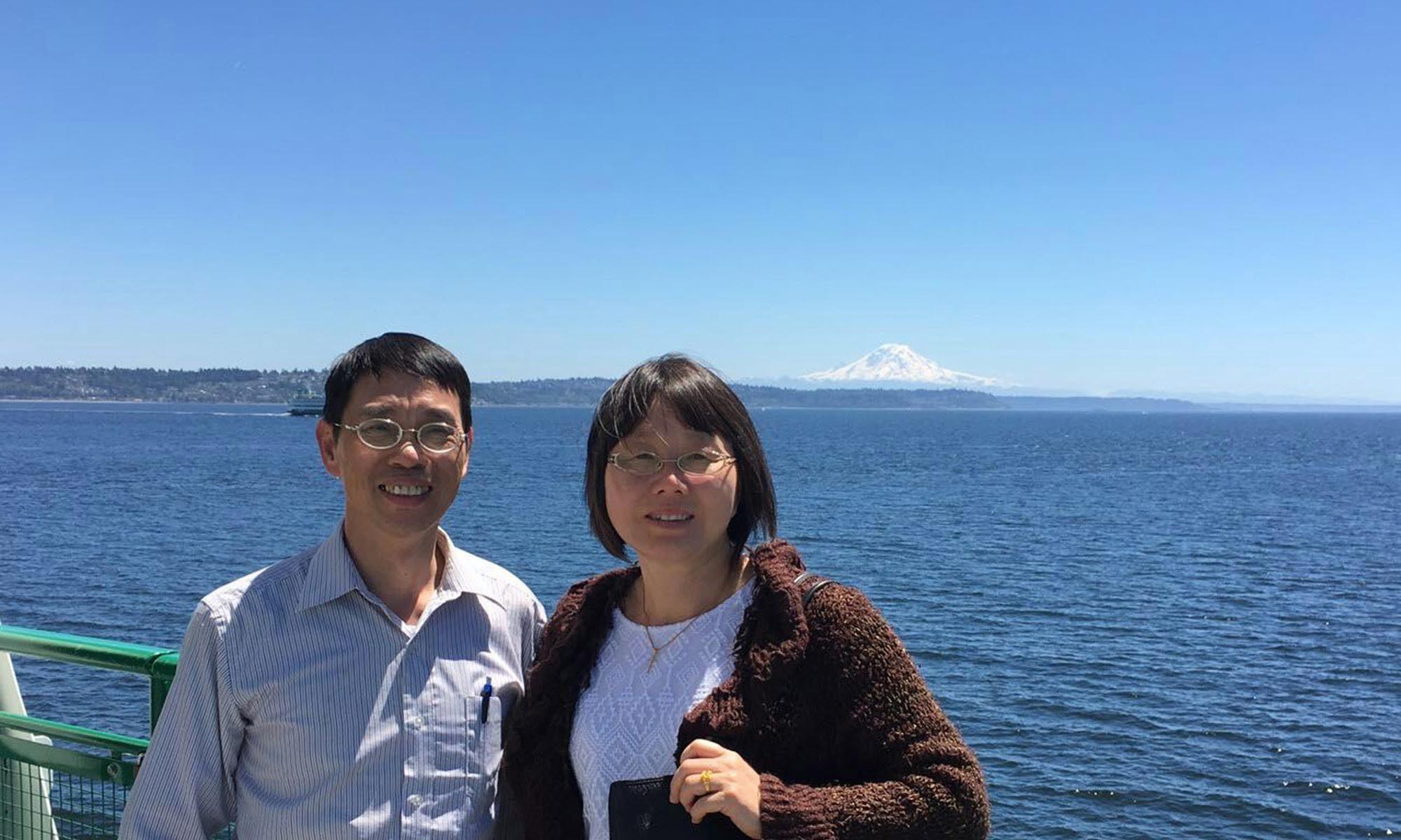 Pastor Joe Huang and wife Christine Chang